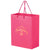 PINK AWARENESS MATTE LAMINATED EURO TOTE BAG - 2ML8410BCA