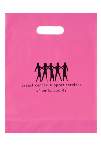 Breast Cancer Awareness Pink Frosted Die Cut Bag - 19FD12153BCA