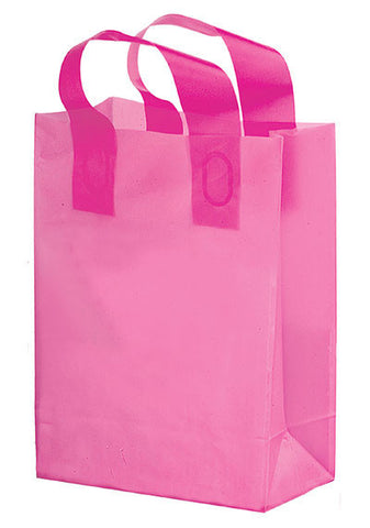 Pink Awareness Color Frosted Soft Loop Shopper Bag in Bulk Wholesale - 19FSL8411BCA