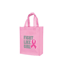AWARENESS PINK GLOSS LAMINATED DESIGNER TOTE BAG-CUSTOMIZED - LN8410BCA
