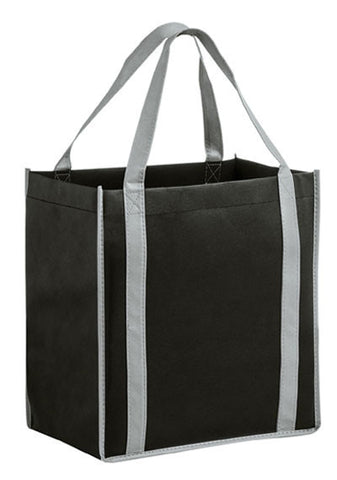 Two-Tone Non-Woven Tote Bag with Poly Board Insert in Bulk, Wholesale - CT12813