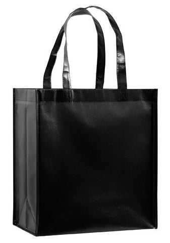 Gloss Laminated Designer Grocery Tote Bag with Poly Board Insert Bulk Wholesale - LN12813