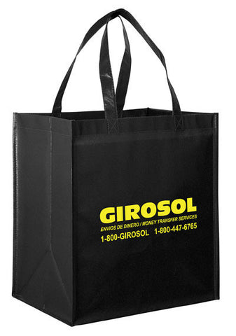 Gloss Laminated Designer Grocery Tote Bag with Poly Board Insert Bulk Wholesale - LN131015