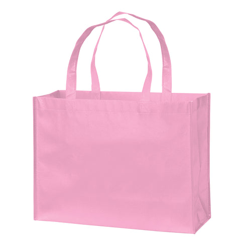 AWARENESS PINK GLOSS LAMINATED DESIGNER TOTE BAG-CUSTOMIZED - LN16612BCA