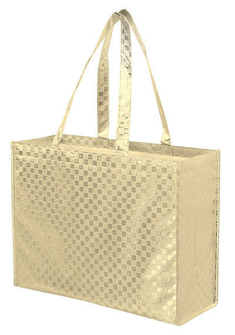 Metallic Gloss Designer Tote Bag with Patterned Finish Bulk Wholesale - LP16613