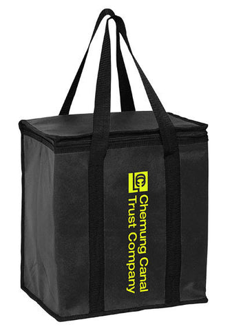 Insulated Non Woven Tote Bag with Square Zippered Top & Poly Board Insert Bulk Wholesale - Y2KC1213