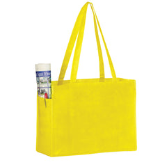 NON-WOVEN OVER-THE-SHOULDER TOTE BAG WITH SIDE POCKETS - Y2KP16612