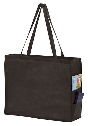 Non Woven Over-the-Shoulder Tote Bag with Side Pockets in Bulk Wholesale - Y2KP20616