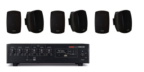Audio Kit - 60W USB/SD/MP3 + Wall mount speakers
