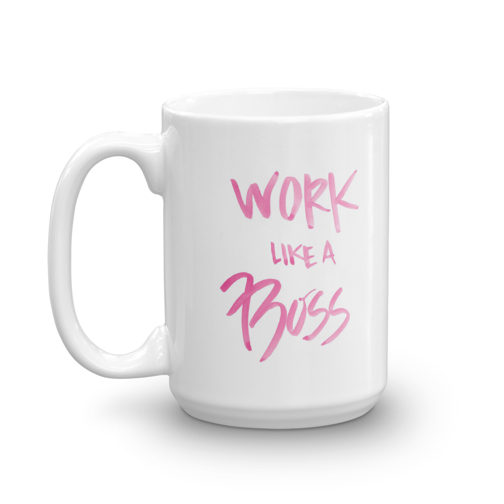 'Work Like a Boss' Mug