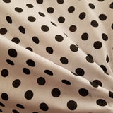 Black on White Polka Dot Polycotton