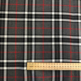 Grey and red Tartan