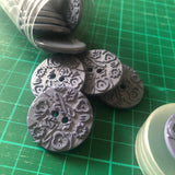 Carved Buttons 30mm size