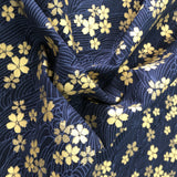 Navy and Metallic Gold Floral