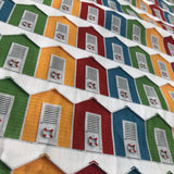 Beach Huts - Digital Cotton