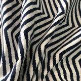 Navy Chevron Cotton