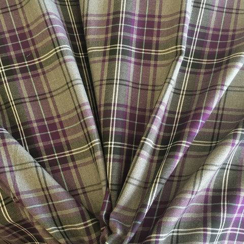 Purple & Grey Tartan with Teal Stripe