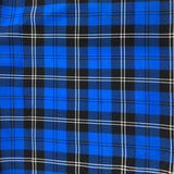 Blue and Black Tartan