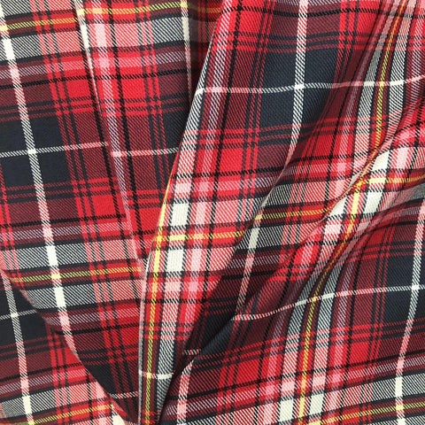 Multi Colour Red Grey and Yellow Tartan