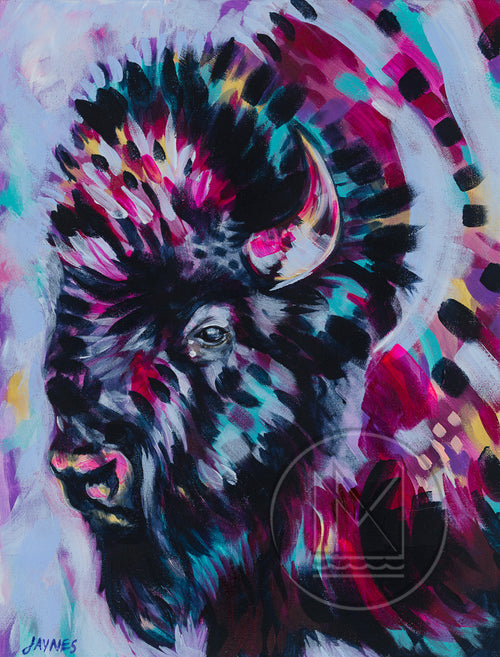 Battle River Bison Painting