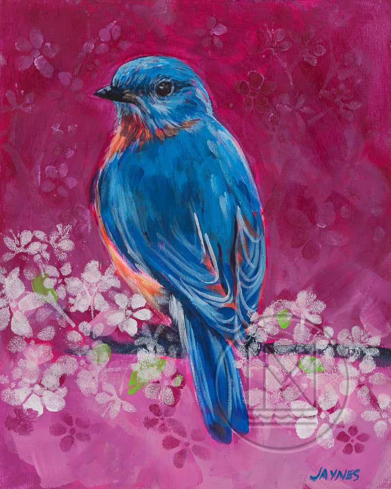 Bluebird for Georgina Painting