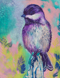 Chickadee on Post Painting