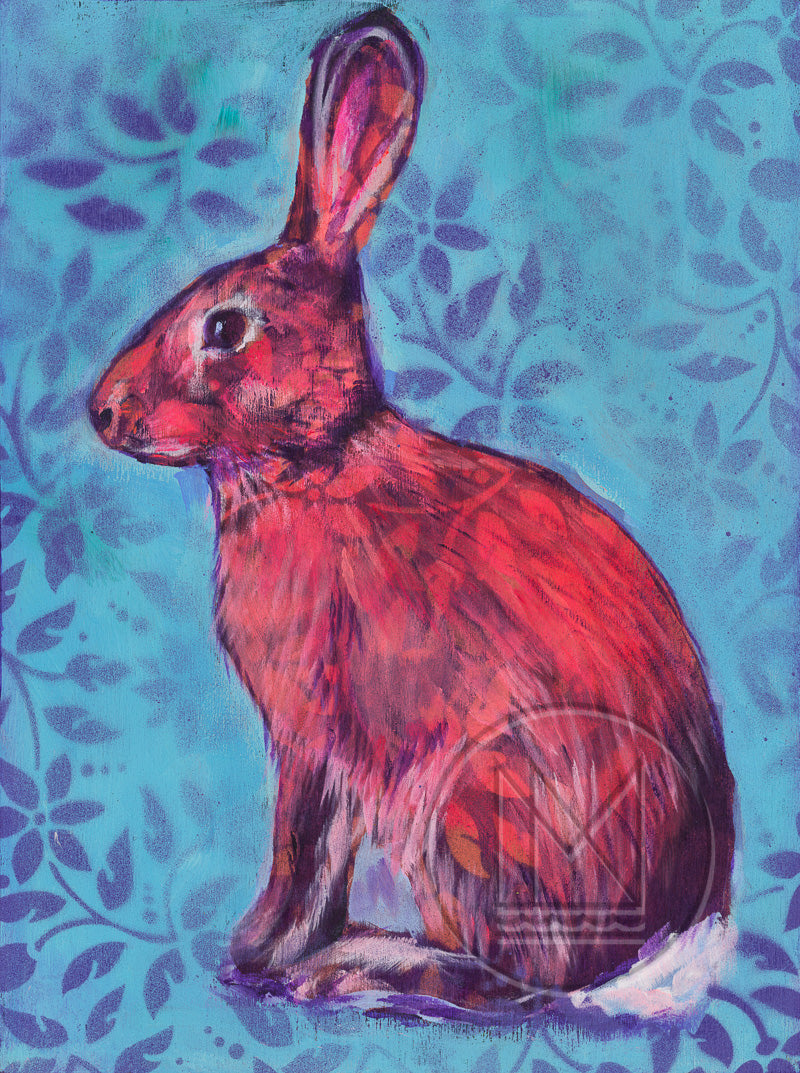 Cottontail Rabbit Sitting Painting