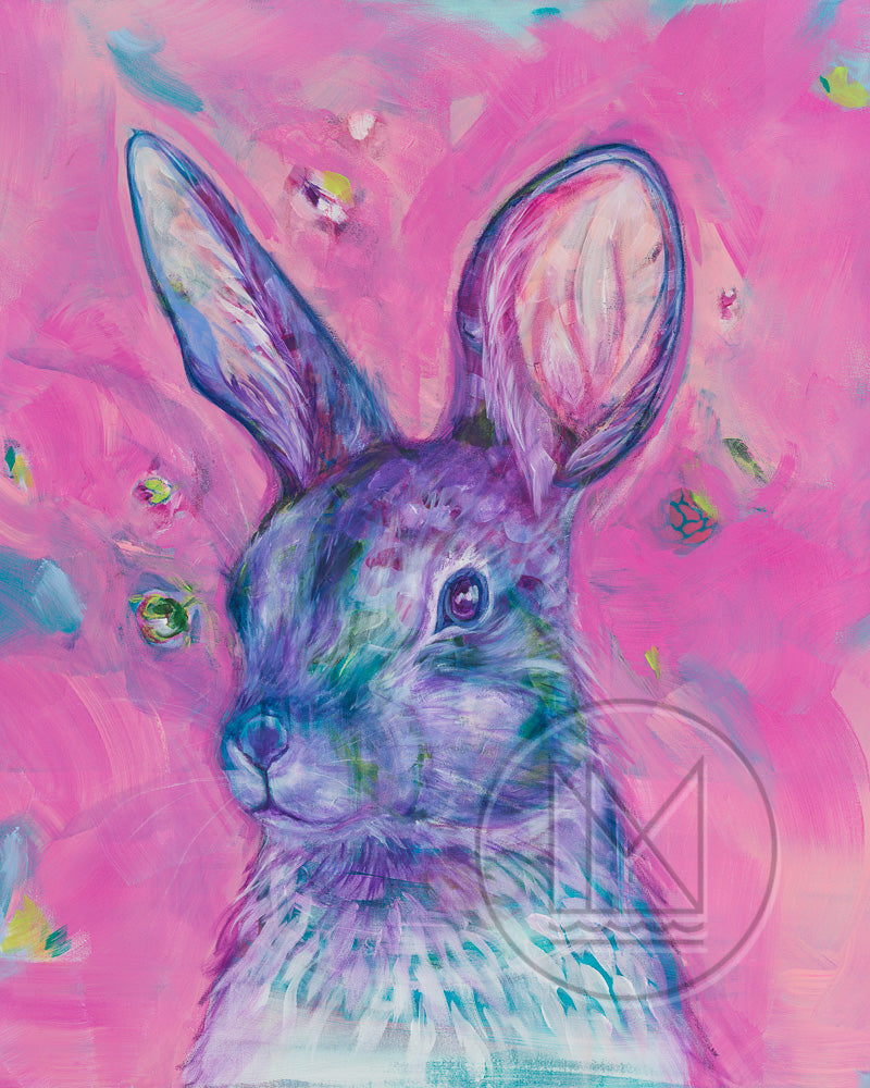 Cottontail Rabbit Painting