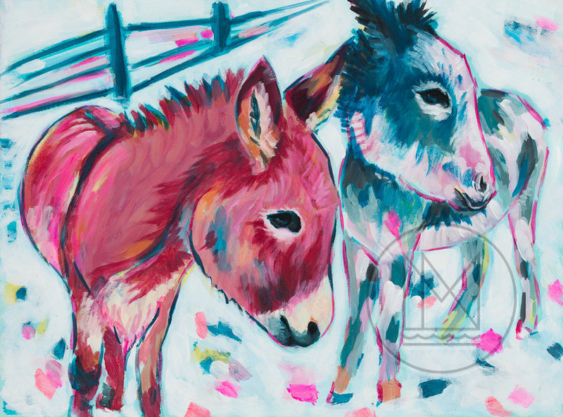 Donkeys Painting