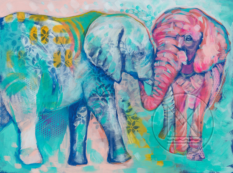 Elephant Couple Painting