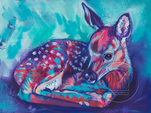 Fawn Laying - Painting