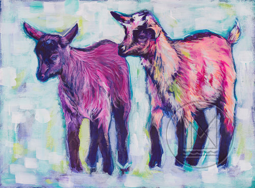 Goats Painting