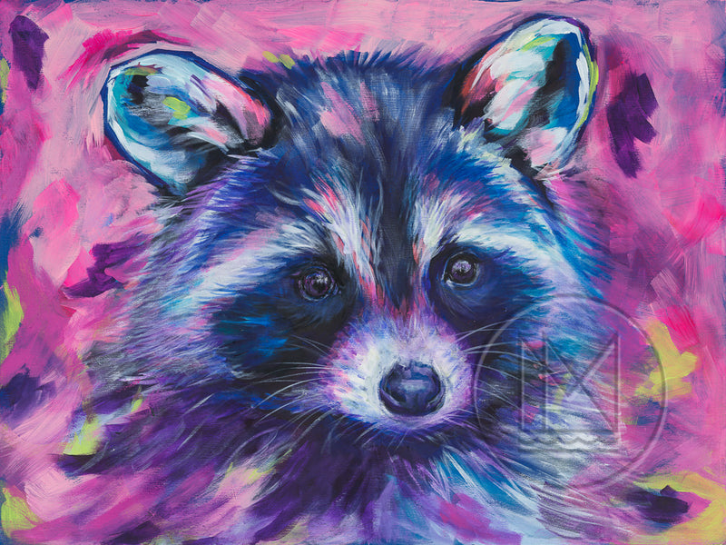 Racoon Painting