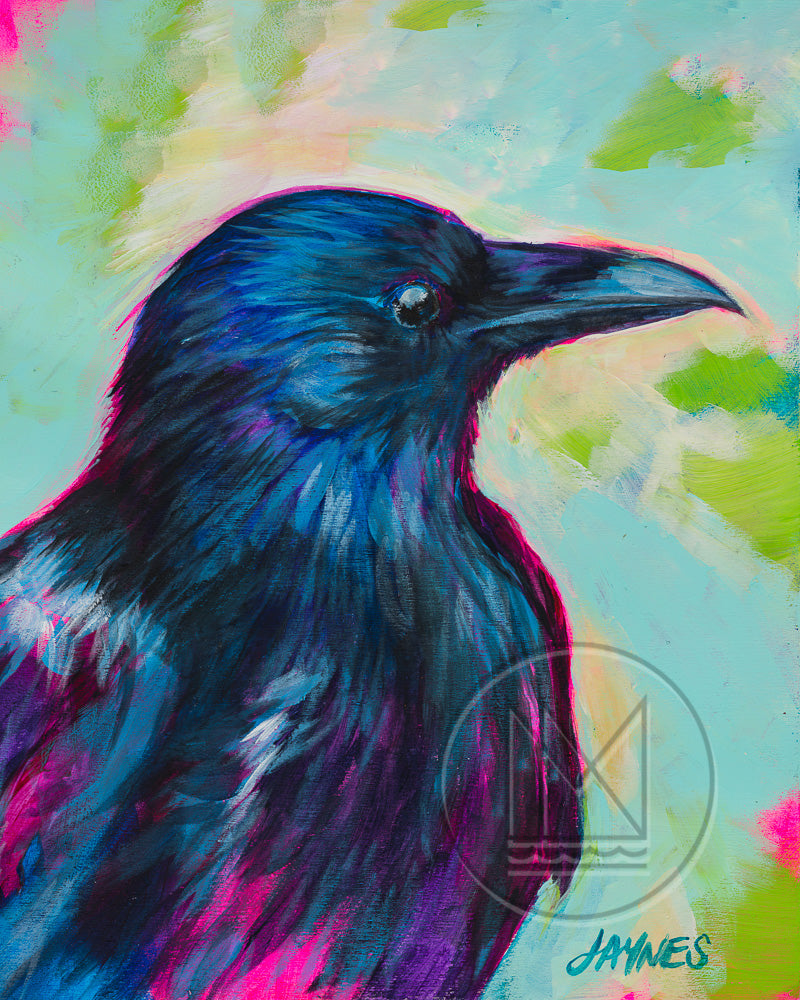 Raven for Bobby McGee Painting