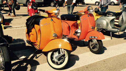 Vespa vintage I The distinguished gentleman's ride 2017 à Lisbonne