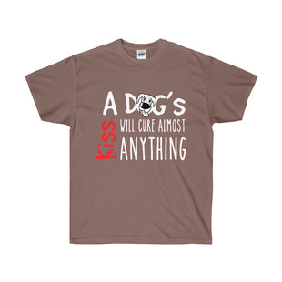 A Dogs Kiss Will Cure Almost Anything Mens T-Shirt