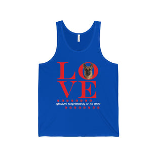 "Unisex Jersey Tank - ""Love German Engineering At its Best"""