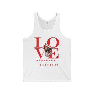 "Unisex Jersey Tank - ""Love Viva Le Frenchie"""