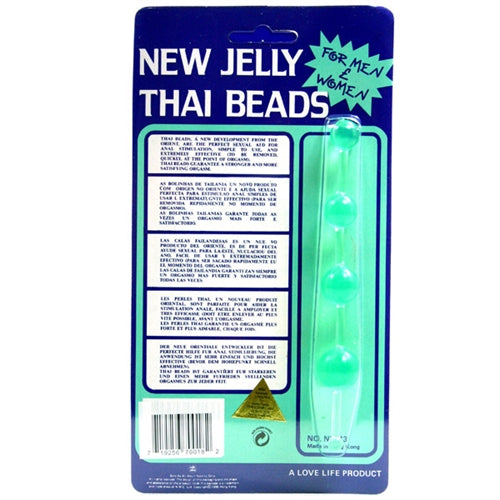 Jelly Thai Anal Beads - Green GT2088-3