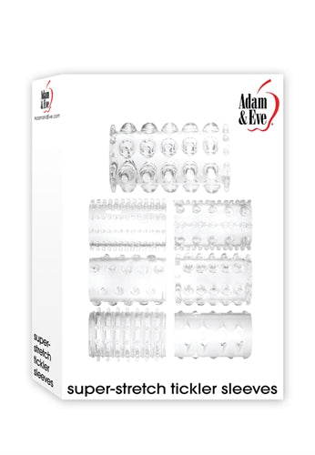 Adam and Eve Super Stretch Sleeves - Clear AE-RD-6987-2