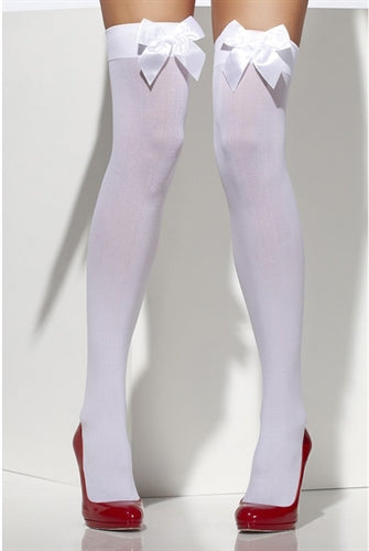 Thigh High Stockings With Bow - White Fv-29093 FV-42753