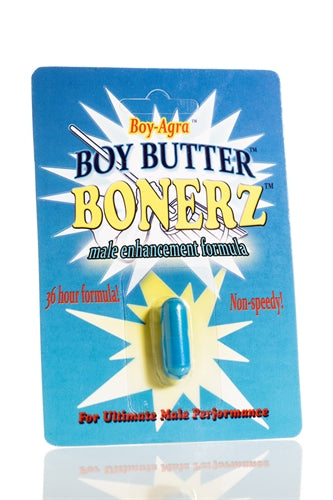 Boy-Agra Boy Butter Bonerz - Male Enhancement Formula - 1 Blister Pack BNZ01