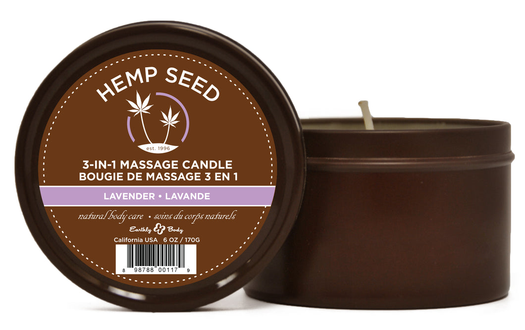 Lavender Suntouched Candle With Hemp 6 Oz EB-HSC017
