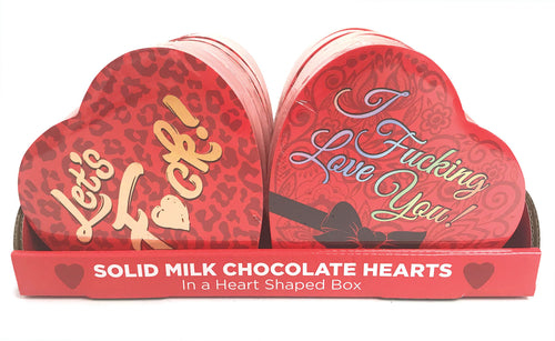 Heart Boxed Chocolates - 12 Box Display CP-934