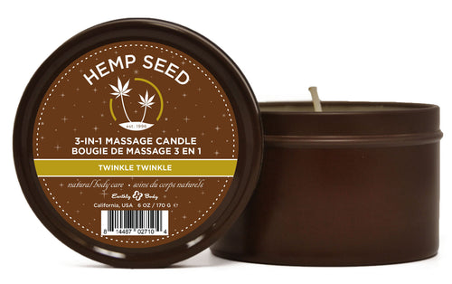 3-in-1 Massage Candle Twinkle Twinkle 6oz EB-HSC030