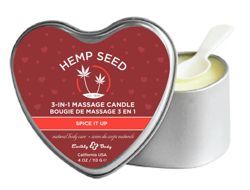 Heart Candle 3-N-1 Spice It Up 4 Oz EB-HSCV038