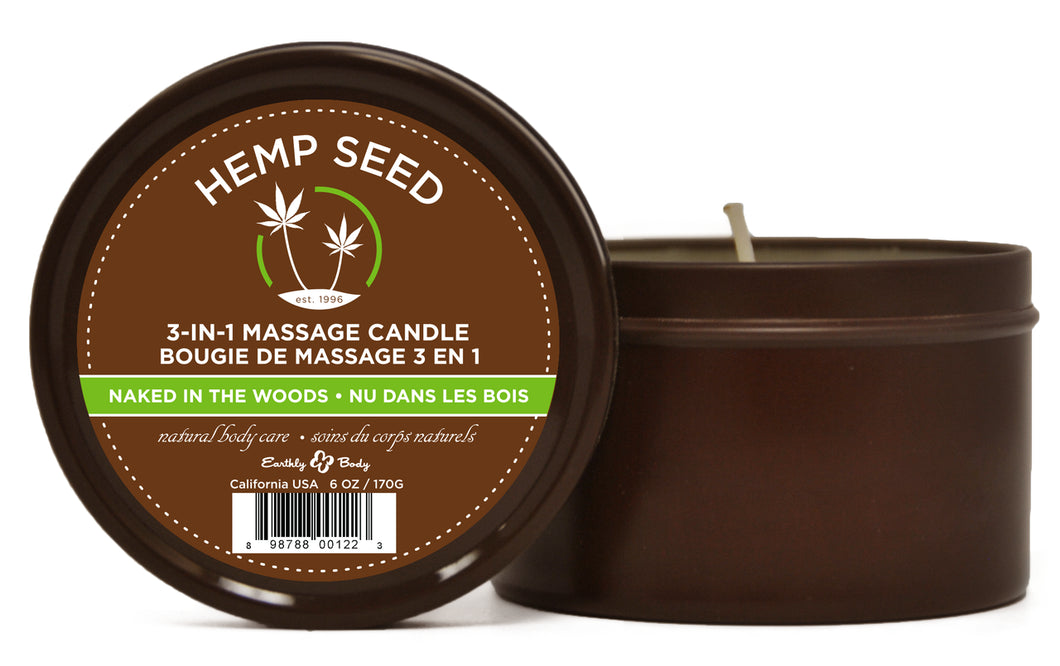 Naked in the Woods Suntouched Candle With  Hemp 6 Oz EB-HSC022