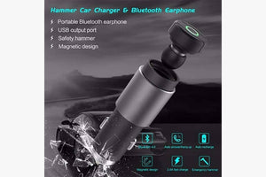 Car Charger Wireless Bluetooth Earphone