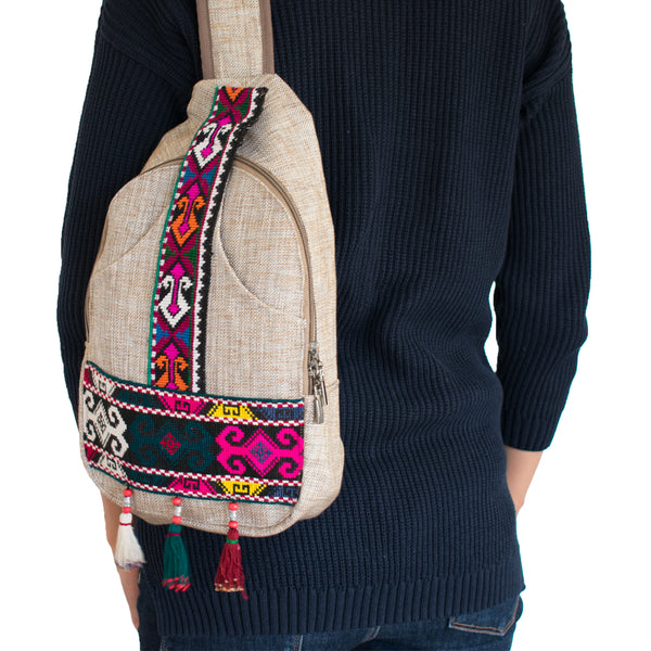 Vintage sheroz suzani backpack