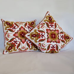 "Suzani Hand Embroidery Cushion Cover ""Otash"""